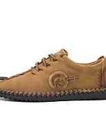 Недорогие -Муж. Комфортная обувь Полиуретан Весна & осень На каждый день Кеды Черный / Желтый / Хаки