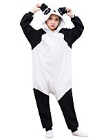 abordables -Pyjamas Kigurumi Panda Combinaison de Pyjamas Polaire Noir blanc Cosplay Pour Garçons et filles Pyjamas Animale Dessin animé Fête / Célébration Les costumes