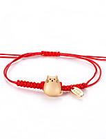 Недорогие -Плетение Браслет дружбы - Тату с животными корейский, Милая, Мода Золотой Назначение Повседневные Жен.