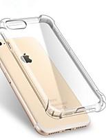 abordables -Coque Pour Apple iPhone X / iPhone 7 / iPhone 7 Plus Antichoc / Transparente Coque Couleur Pleine Flexible TPU pour iPhone X / iPhone 8 Plus / iPhone 8