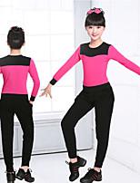 abordables -Danse classique Tenue Fille Entraînement / Utilisation Elasthanne / Lycra Combinaison / Elastique Manches Longues Taille moyenne Haut / Pantalon