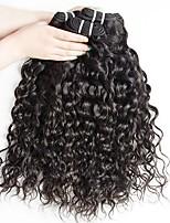 Недорогие -4 Связки Монгольские волосы Волнистые 8A Натуральные волосы Необработанные натуральные волосы Подарки Косплей Костюмы Головные уборы 8-28 дюймовый Естественный цвет Ткет человеческих волос