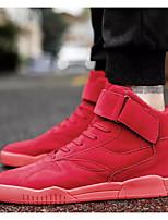 Недорогие -Муж. Комфортная обувь Свиная кожа Наступила зима Кеды Черный / Коричневый / Красный