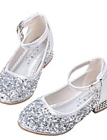 Недорогие -Девочки Обувь Синтетика Весна & осень Детская праздничная обувь / Крошечные Каблуки для подростков Обувь на каблуках для Для подростков Серебряный / Розовый
