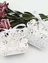 Недорогие -Кубический Розовая бумага Фавор держатель с Ленты / Ленты Подарочные коробки - 50 шт