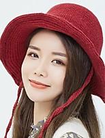 Недорогие -Жен. Активный / Классический Вязаная шапочка / Лыжная шапочка Однотонный