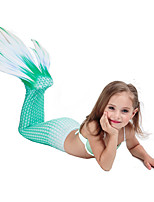 abordables -La Petite Sirène Aqua Princess Costume Fille Enfant Robe sirène et robe évasée Halloween Carnaval Mascarade Fête / Célébration Lycra Tenue Arc-en-ciel / Vert / Fuschia Sirène