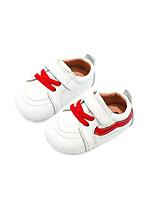 Недорогие -Мальчики / Девочки Обувь Кожа Весна & осень Удобная обувь / Обувь для малышей Кеды для Дети Белый / Черный / Красный