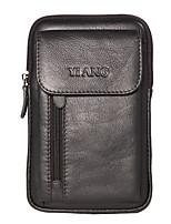 Недорогие -Муж. Мешки Мобильный телефон сумка Молнии Сплошной цвет Черный / Коричневый