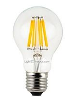 Недорогие -6шт 4 W 300 lm E26 / E27 LED лампы накаливания A60(A19) 4 Светодиодные бусины Высокомощный LED Диммируемая Тёплый белый