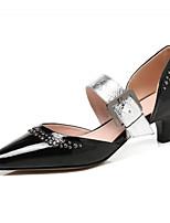 Недорогие -Жен. Наппа Leather / Лакированная кожа Лето Милая / Минимализм Обувь на каблуках На шпильке Заостренный носок Бусины / Пряжки Белый / Черный / Темно-зеленый