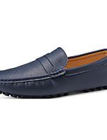 Недорогие -Муж. Комфортная обувь Кожа Весна & осень На каждый день Мокасины и Свитер Дышащий Черный / Коричневый / Тёмно-синий