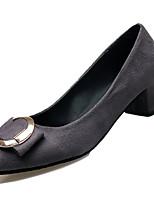 Недорогие -Жен. Полиуретан Зима Минимализм Обувь на каблуках На толстом каблуке Заостренный носок Черный / Серый / Зеленый