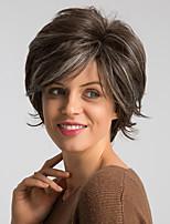 Недорогие -Парики из искусственных волос Жен. Естественный прямой Коричневый Стрижка боб / Стрижка под мальчика Искусственные волосы 10 дюймовый Модный дизайн / Новое поступление / Природные волосы Коричневый