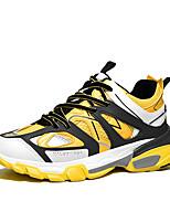 Недорогие -Муж. Комфортная обувь Сетка Наступила зима На каждый день Кеды Оранжевый / Желтый / Синий