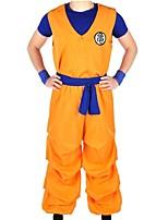 Недорогие -Вдохновлен Жемчуг дракона Son Goku Аниме Косплэй костюмы Косплей Костюмы Буквы Неприменимо / Кофты / Брюки Назначение Универсальные