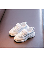 Недорогие -Девочки Обувь Сетка Осень Удобная обувь Кеды Шнуровка для Дети Белый / Черный / Розовый / Контрастных цветов