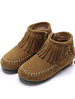 Недорогие -Мальчики / Девочки Обувь Замша Весна / Наступила зима Удобная обувь / Модная обувь Ботинки С кисточками для Дети Кофейный / Коричневый