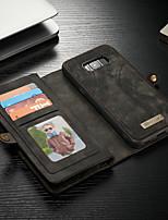 Недорогие -CaseMe Кейс для Назначение SSamsung Galaxy S8 Plus Кошелек / Бумажник для карт / со стендом Чехол Однотонный Твердый Кожа PU для S8 Plus