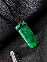 Недорогие -Муж. Классический Ожерелья с подвесками - Резина Классика, модный, Мода Cool Темно-зеленый 12.2047 дюймовый Ожерелье Бижутерия 1шт Назначение Повседневные, Для улицы