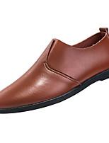 Недорогие -Муж. Комфортная обувь Полиуретан Зима На каждый день Мокасины и Свитер Нескользкий Белый / Черный / Коричневый