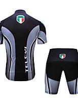 Недорогие -TELEYI С короткими рукавами Велокофты и велошорты - Черный Велоспорт Быстровысыхающий Разные цвета / Эластичная