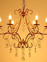 Недорогие -JLYLITE 6-Light Кристаллы Люстры и лампы Рассеянное освещение Окрашенные отделки Металл Хрусталь 110-120Вольт / 220-240Вольт