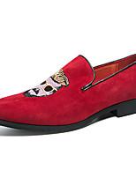 Недорогие -Муж. Официальная обувь Синтетика Весна & осень На каждый день / Английский Мокасины и Свитер Нескользкий Черный / Красный / Для вечеринки / ужина