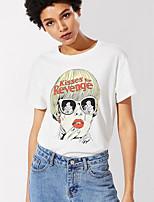 Недорогие -женская тонкая футболка - сплошной цветной шею