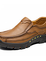 Недорогие -Муж. Официальная обувь Наппа Leather Весна & осень Деловые / На каждый день Мокасины и Свитер Массаж Коричневый / Хаки