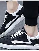 Недорогие -Муж. Комфортная обувь Полотно Весна & осень Кеды Черный / Серый / Красный