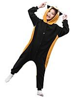 baratos -Pijamas Kigurumi Guaxinim Pijamas Macacão Lã Polar Castanho Cosplay Para Meninos e meninas Pijamas Animais desenho animado Festival / Celebração Fantasias
