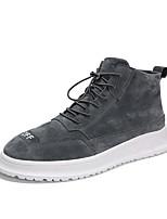 Недорогие -Муж. Комфортная обувь Сетка Наступила зима На каждый день Кеды Черный / Серый / Хаки