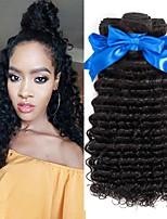 Недорогие -4 Связки Бразильские волосы Индийские волосы Крупные кудри Не подвергавшиеся окрашиванию Натуральные волосы Подарки Косплей Костюмы Человека ткет Волосы 8-28 дюймовый Естественный цвет