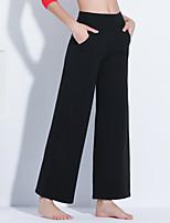 abordables -Danse latine Bas Femme Utilisation Fibre de Lait Elastique Taille moyenne Pantalon