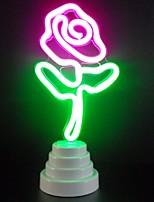 baratos -1pç Luz noturna 3D Rosa Baterias AA alimentadas Fofo / Criativo / Cores Gradiente 5 V