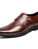 Недорогие -Муж. Официальная обувь Синтетика Весна & осень Классика / На каждый день Мокасины и Свитер Нескользкий Черный / Коричневый