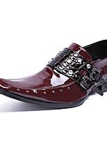 Недорогие -Муж. Официальная обувь Наппа Leather Весна & осень На каждый день / Английский Мокасины и Свитер Нескользкий Винный