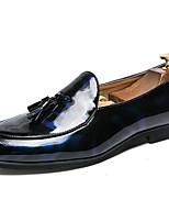 Недорогие -Муж. Официальная обувь Синтетика Весна & осень Классика / На каждый день Мокасины и Свитер Нескользкий Черный / Синий