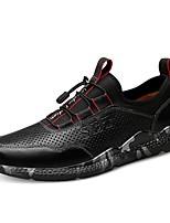 Недорогие -Муж. Комфортная обувь Кожа / Наппа Leather Зима Винтаж / На каждый день Кеды Амортизирующий Черный / Темно-коричневый