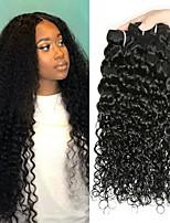 Недорогие -4 Связки Бразильские волосы Перуанские волосы Волнистые Не подвергавшиеся окрашиванию человеческие волосы Remy Подарки Косплей Костюмы Человека ткет Волосы 8-28 дюймовый Естественный цвет