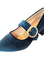 Недорогие -Жен. Полиуретан Весна & осень Обувь на каблуках Блочная пятка Заостренный носок Черный / Синий / Винный