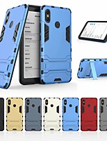 Недорогие -Кейс для Назначение Xiaomi Xiaomi Mi Max 3 Защита от удара / со стендом Кейс на заднюю панель Однотонный / броня Твердый ПК для Xiaomi Mi Max 3
