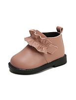 Недорогие -Девочки Обувь Кожа Зима Удобная обувь / Обувь для малышей Ботинки для Дети Черный / Красный / Розовый