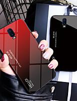 Недорогие -Кейс для Назначение OnePlus OnePlus 6 / One Plus 6T Зеркальная поверхность Кейс на заднюю панель Градиент цвета Твердый Закаленное стекло для OnePlus 6 / One Plus 6T / One Plus 5