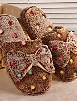 Недорогие -Женские тапочки / Тапочки для девочек Тапочки для гостей / Домашние тапки На каждый день Тканый хлопок Бант Обувь