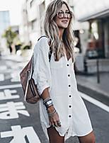 abordables -Femme Basique Blanc Jupe Une-pièce Maillots de Bain - Couleur Pleine Taille unique