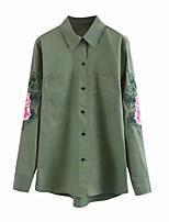 Недорогие -женская рубашка - сплошной цветной воротник