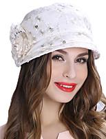 Недорогие -Чудесная миссис Мейзел Колпак шляпа шляпа Дамы Ретро Жен. Белый Цветы Конструкция САР Хлопок / полиэфир костюмы