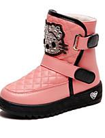 Недорогие -Девочки Обувь Искусственная кожа Зима Удобная обувь / Модная обувь Ботинки для Для подростков Белый / Черный / Розовый / Сапоги до середины икры